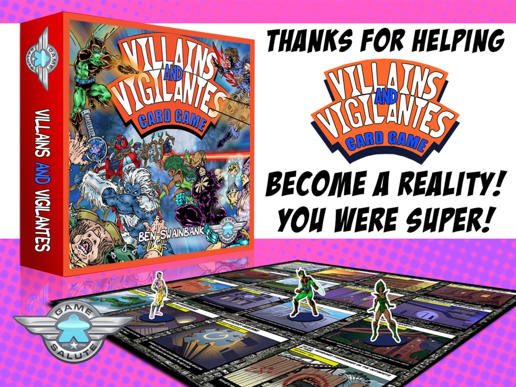Villains and Vigilantes Card Game's video poster