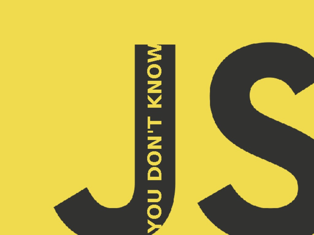 """""""You Don't Know JS"""" (book series)'s video poster"""