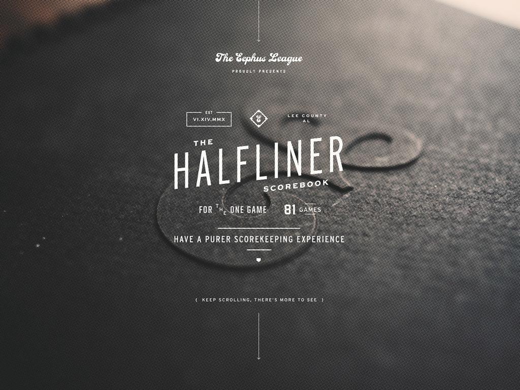 The Eephus League HalfLiner Scorebook's video poster