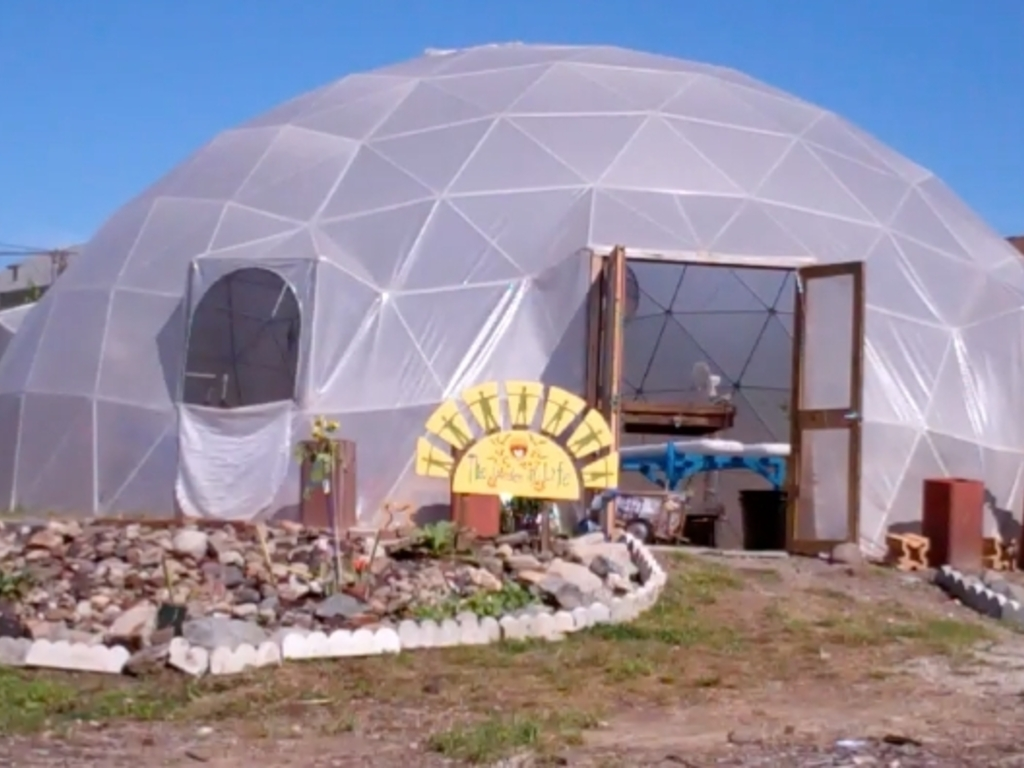 New Urban Farmers' Aquaponic Dome Greenhouses's video poster