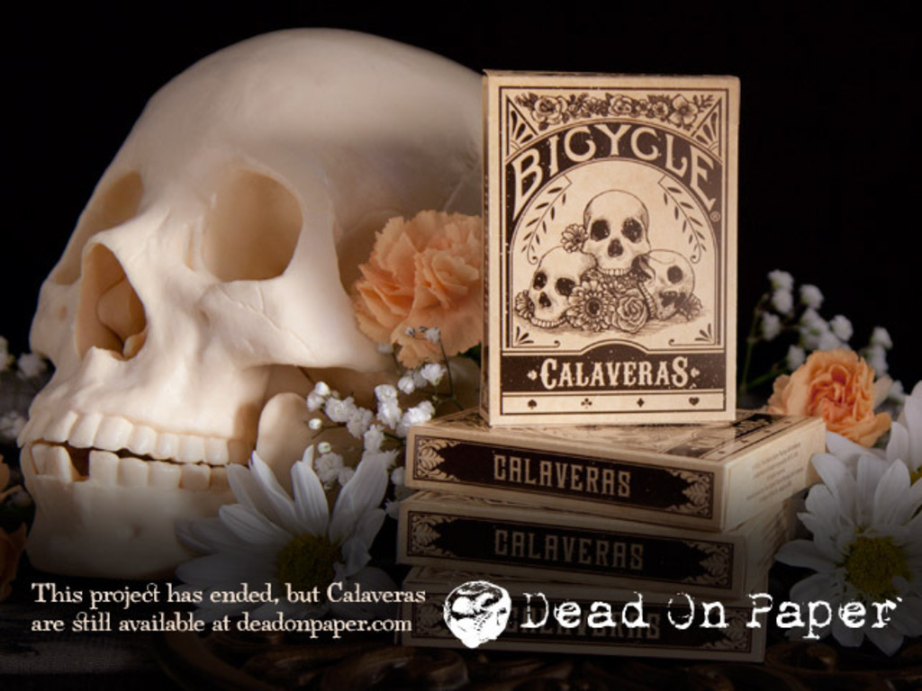 Calaveras — Playing cards inspired by the Day of the Dead's video poster