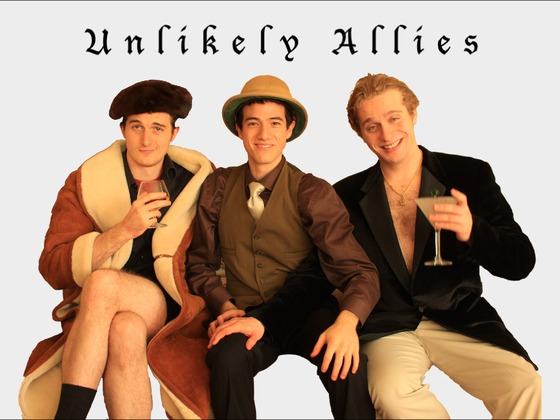 """""""Unlikely Allies"""" Sketch Comedy Pilot's video poster"""