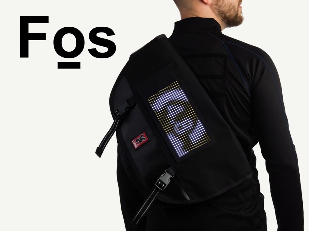 Fos - A truly wearable, Bluetooth LED display system's video poster