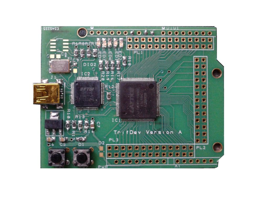 TRIFDEV a re-programmable FPGA I/O expander for Arduino's video poster