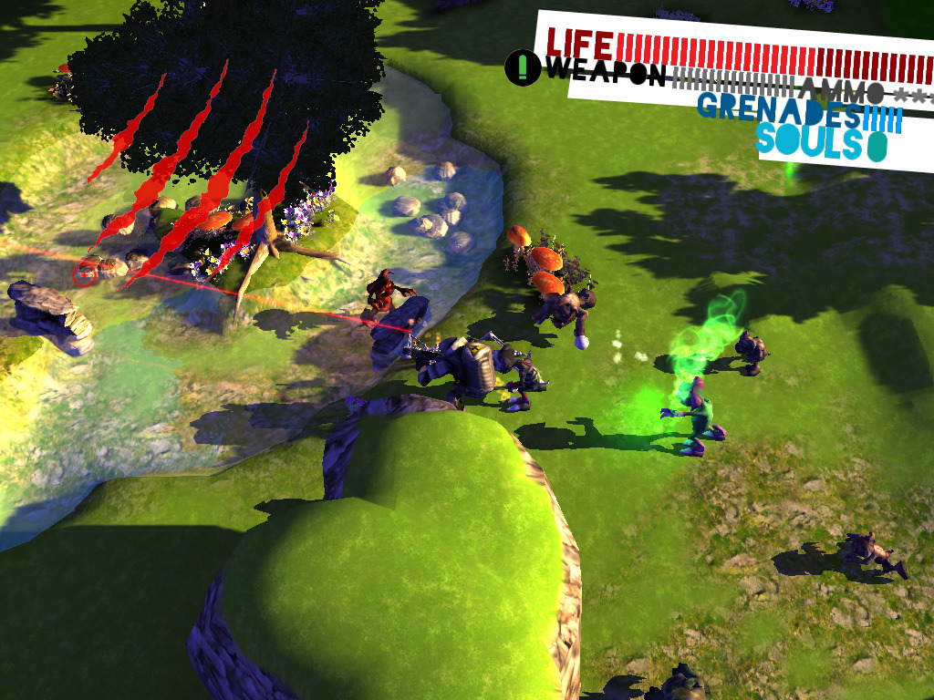 Gremlin Invasion - overhead action shooter for PC & Mac's video poster