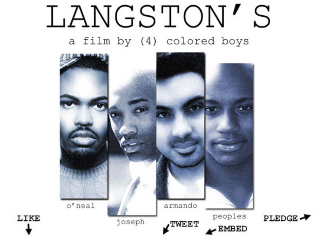Click to Donate to LANGSTON'S a new film by & 4 colored boys's video poster