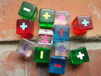 Fudge Dice - Translucent Colorful Fudge Dice