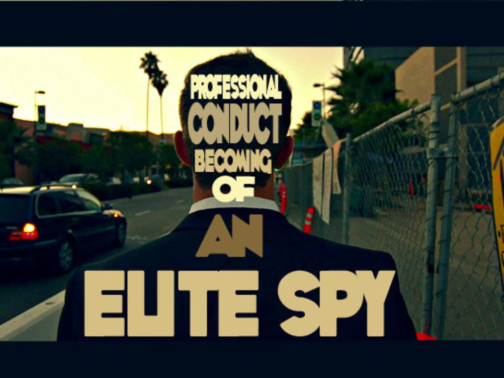 Professional Conduct Becoming of An Elite Spy's video poster