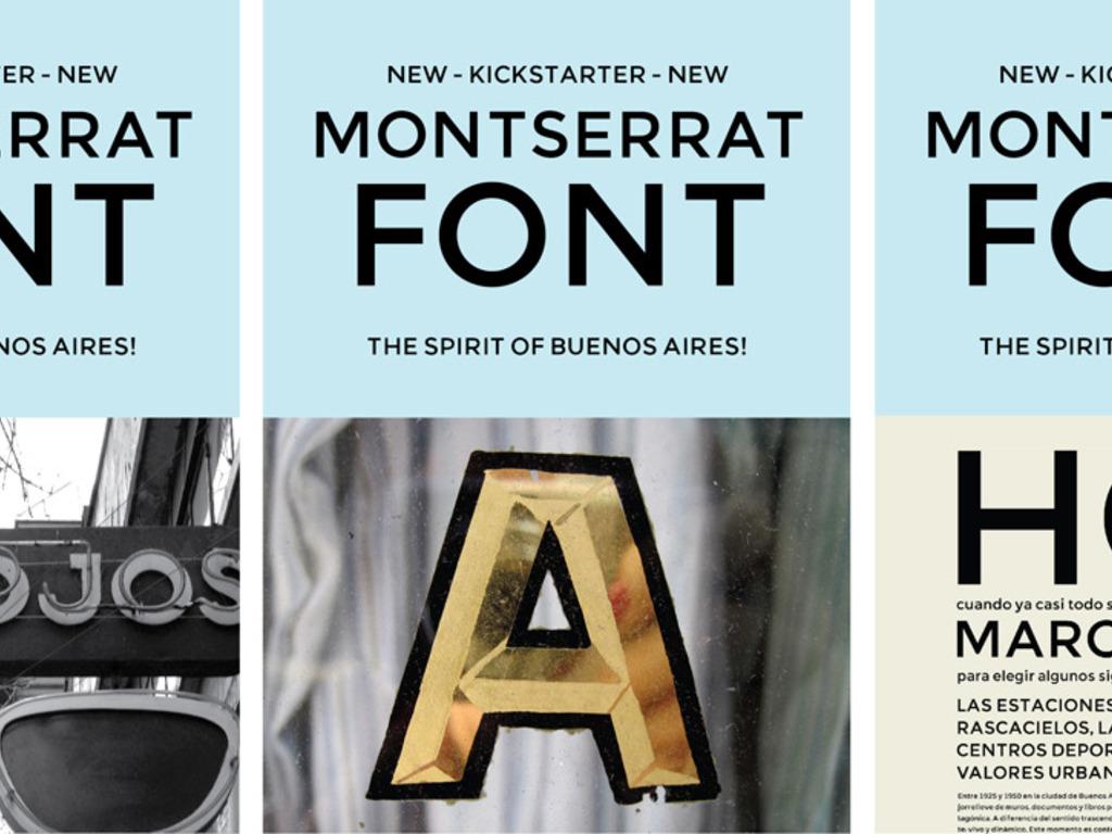 The Montserrat Typeface's video poster