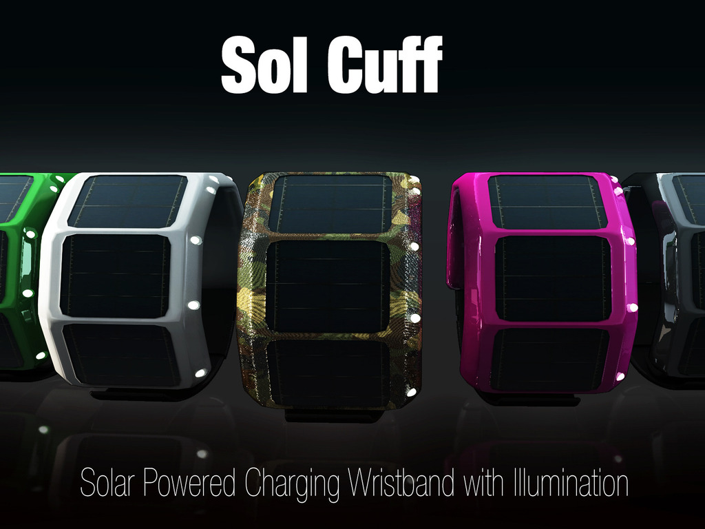 Sol Cuff: Solar Powered Charging Wristband with Illumination's video poster