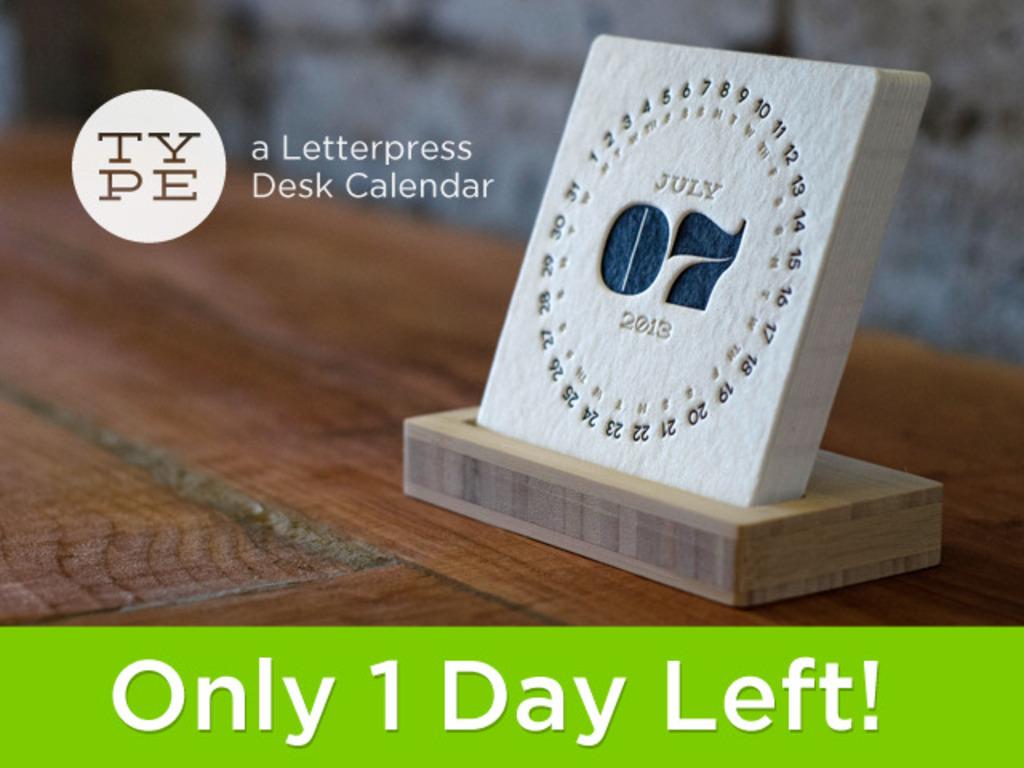 TYPE - a Letterpress Desk Calendar's video poster