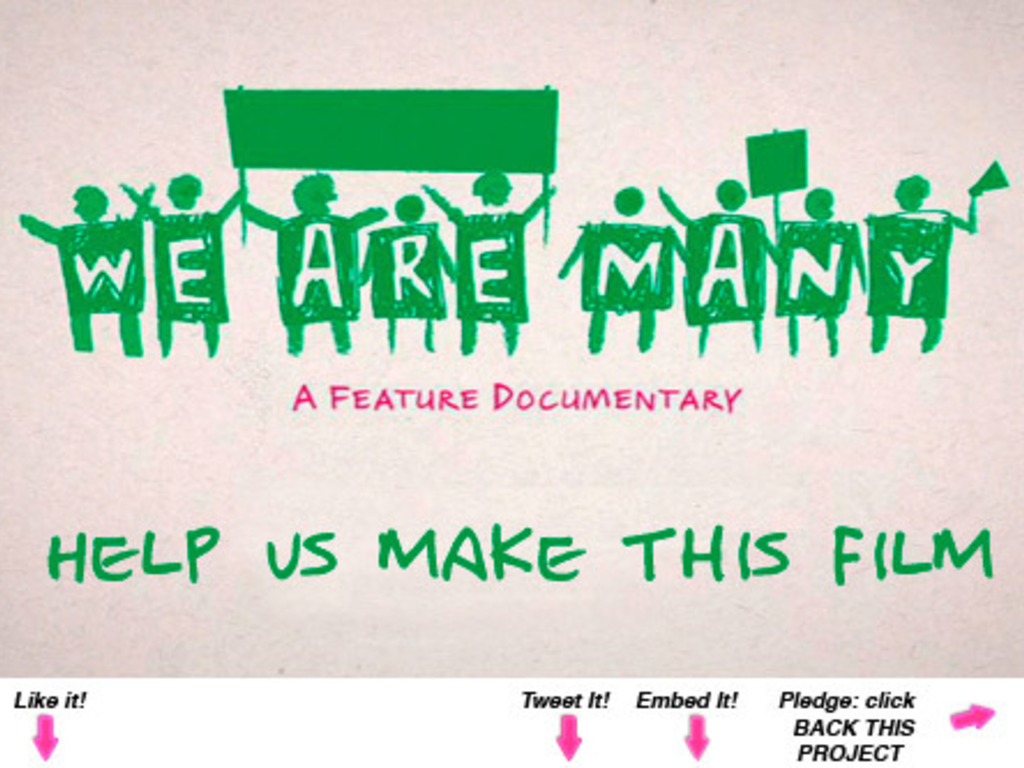 We Are Many - a feature length documentary film's video poster
