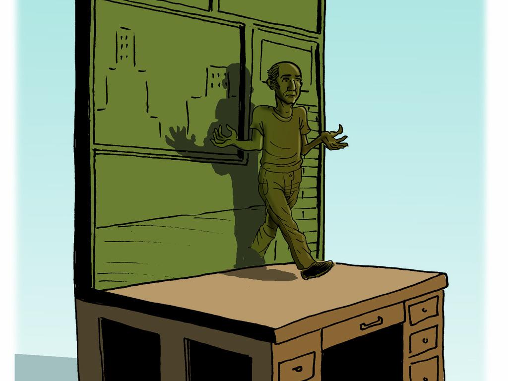 Harvey Pekar Library Statue: Comics as Art & Literature Desk's video poster