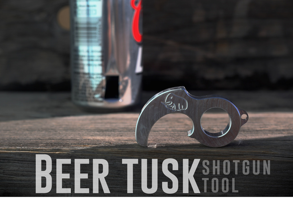 The Beer Tusk. The Tool that Shotguns a Beer Can Perfectly.'s video poster