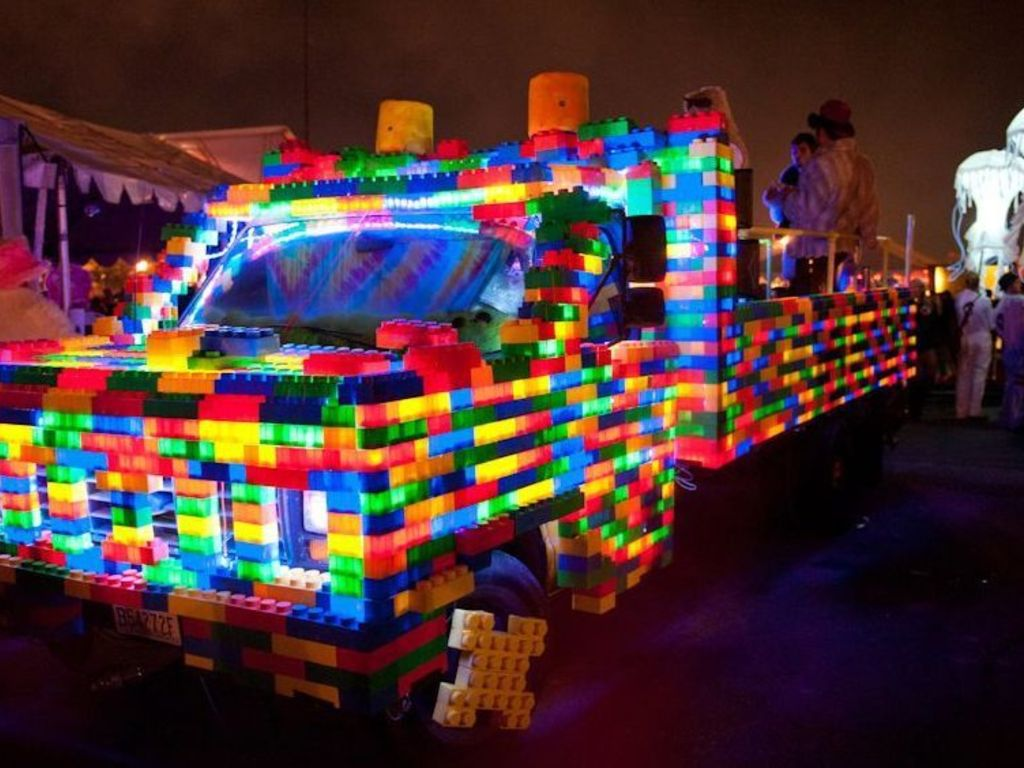 """Catch a ride on the """"LEGO Truck"""" art car at Burning Man!!!'s video poster"""