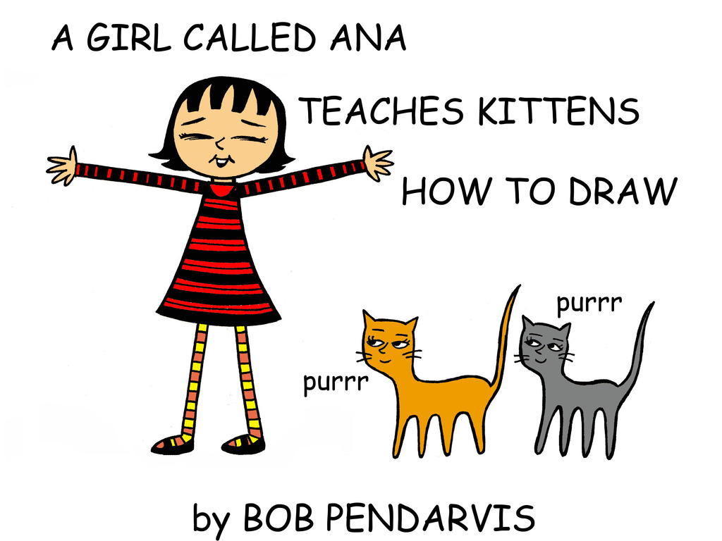 A GIRL CALLED ANA TEACHES KITTENS HOW TO DRAW's video poster