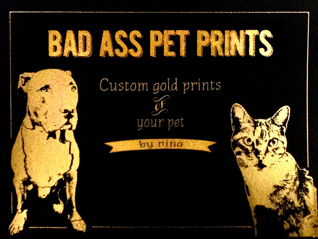 Gold Metallic Portraits - Of Your Pet's video poster
