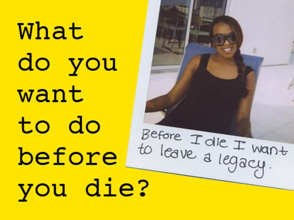 Before I die I want to... goes digital's video poster
