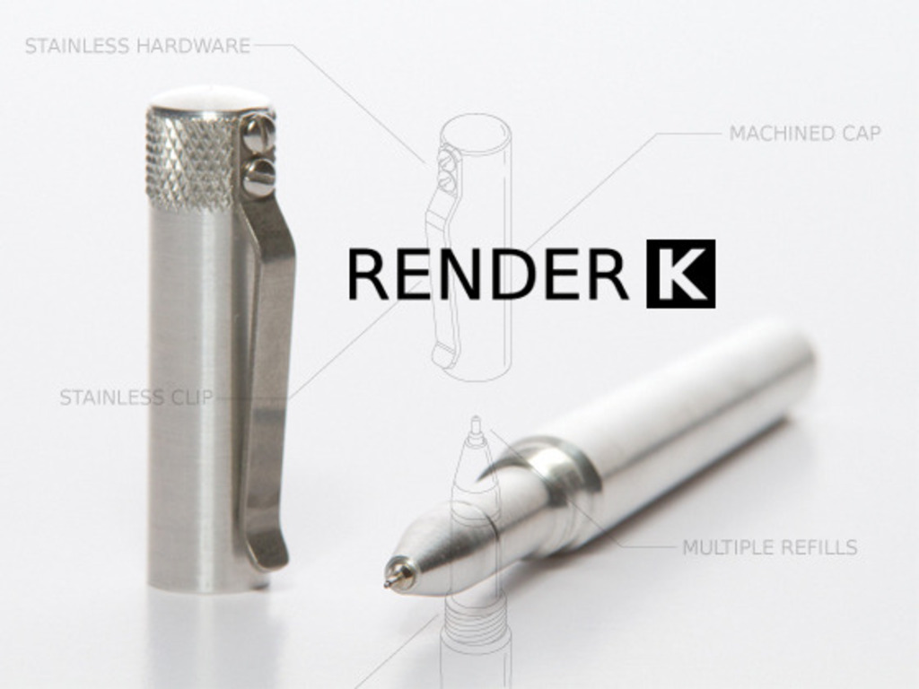 RENDER K- A Custom Machined Pen's video poster