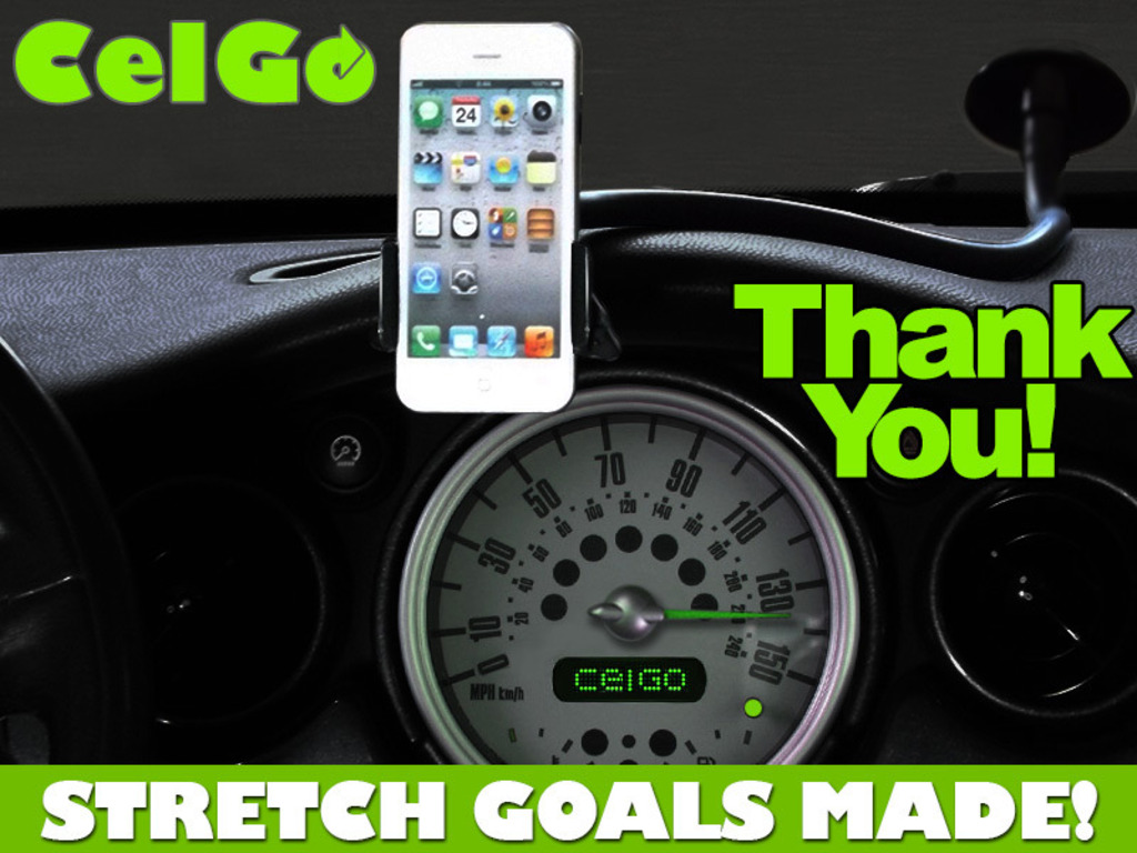 CelGo: Flexible Hands-Free Cell Phone Holder For Your Car's video poster