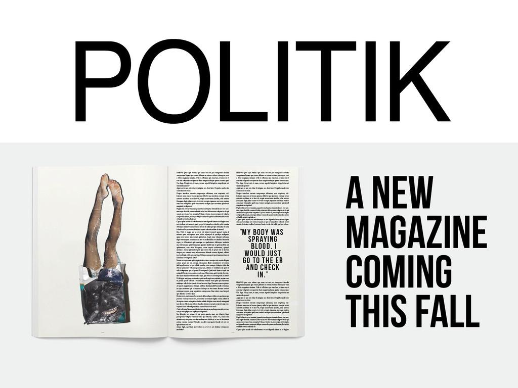 POLITIK MAGAZINE's video poster