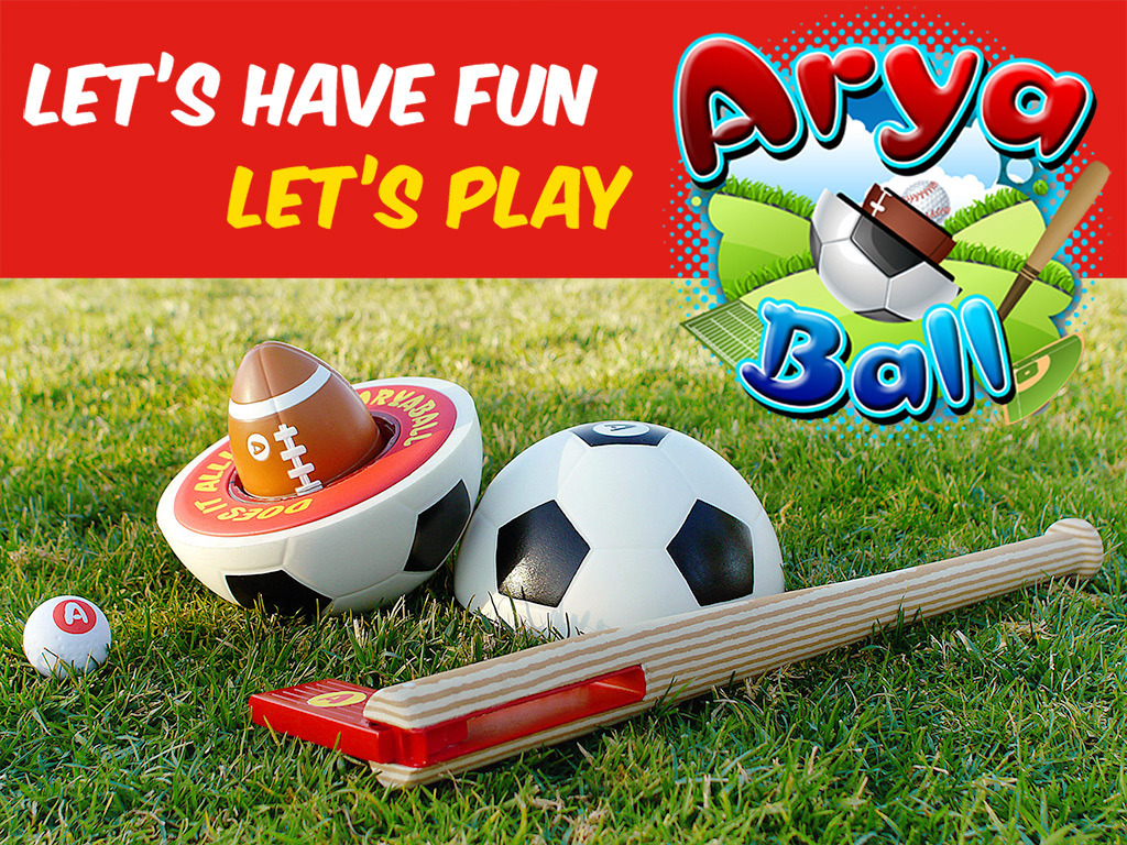 AryaBall: Play 5 Sports with World's Most Fun Ball and Bat's video poster