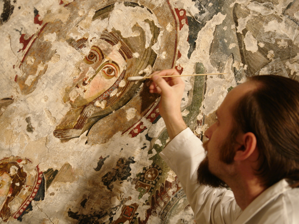 An 8th century painting needs restoration!'s video poster