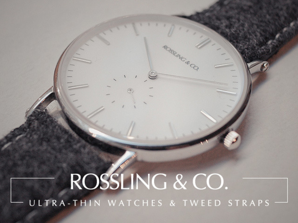 Rossling & Co - Ultra-Thin Watches & Tweed Straps's video poster