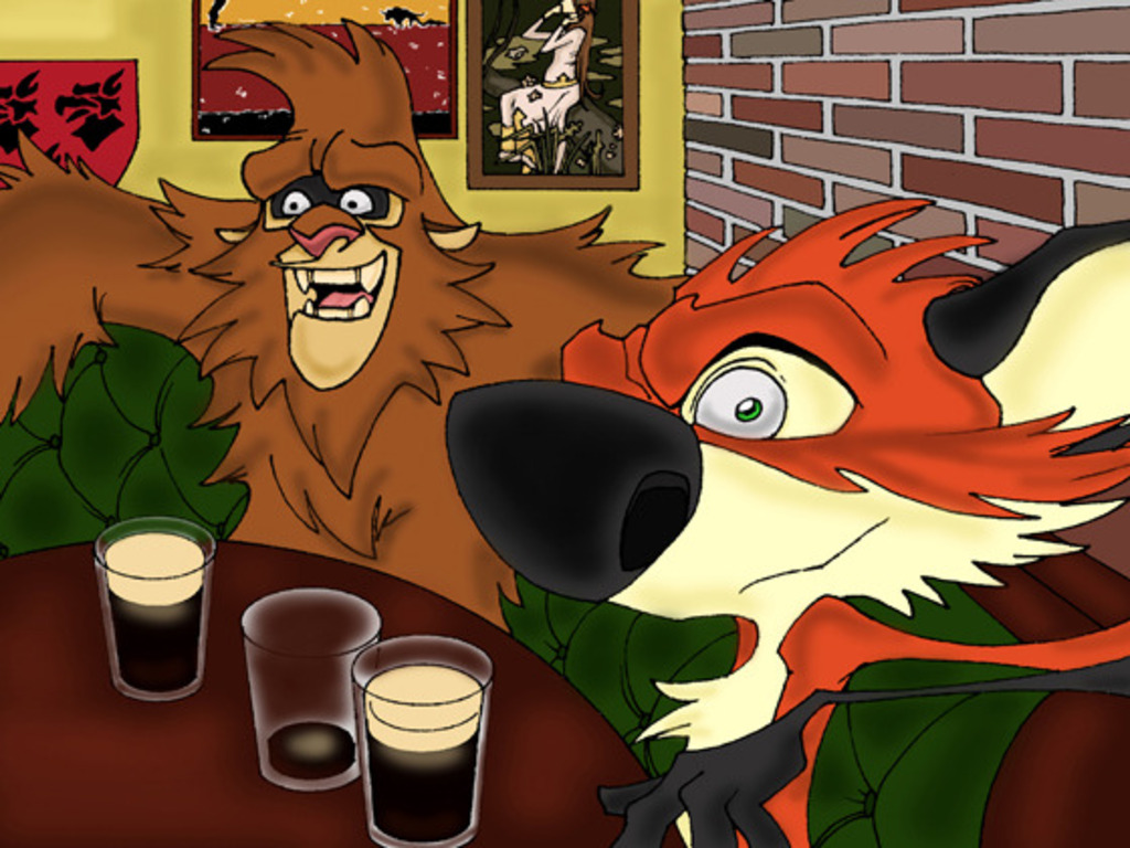 Fox and Bigfoot animated series's video poster