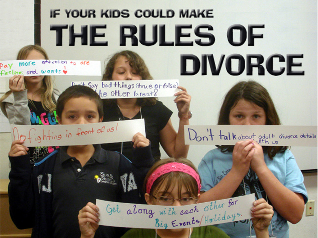 If Your Kids Could Make the RULES OF DIVORCE's video poster