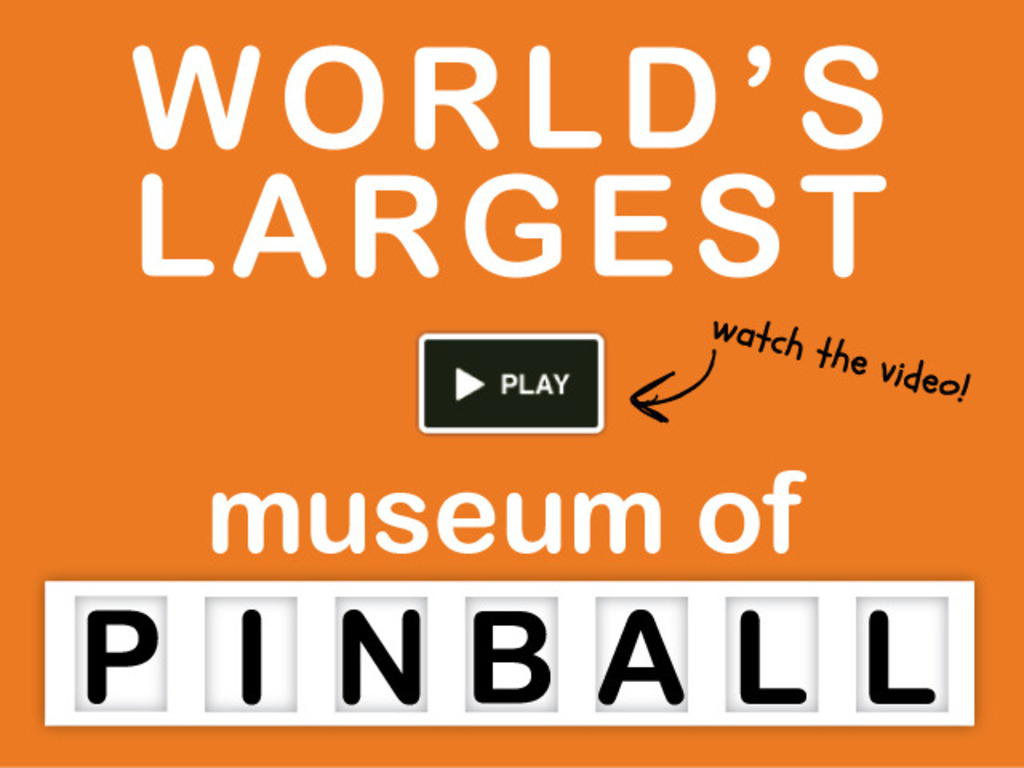 World's Largest MUSEUM OF PINBALL - Help Us Launch!'s video poster