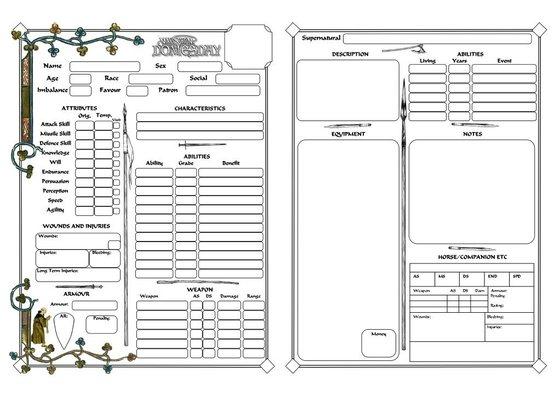 dresden character sheet