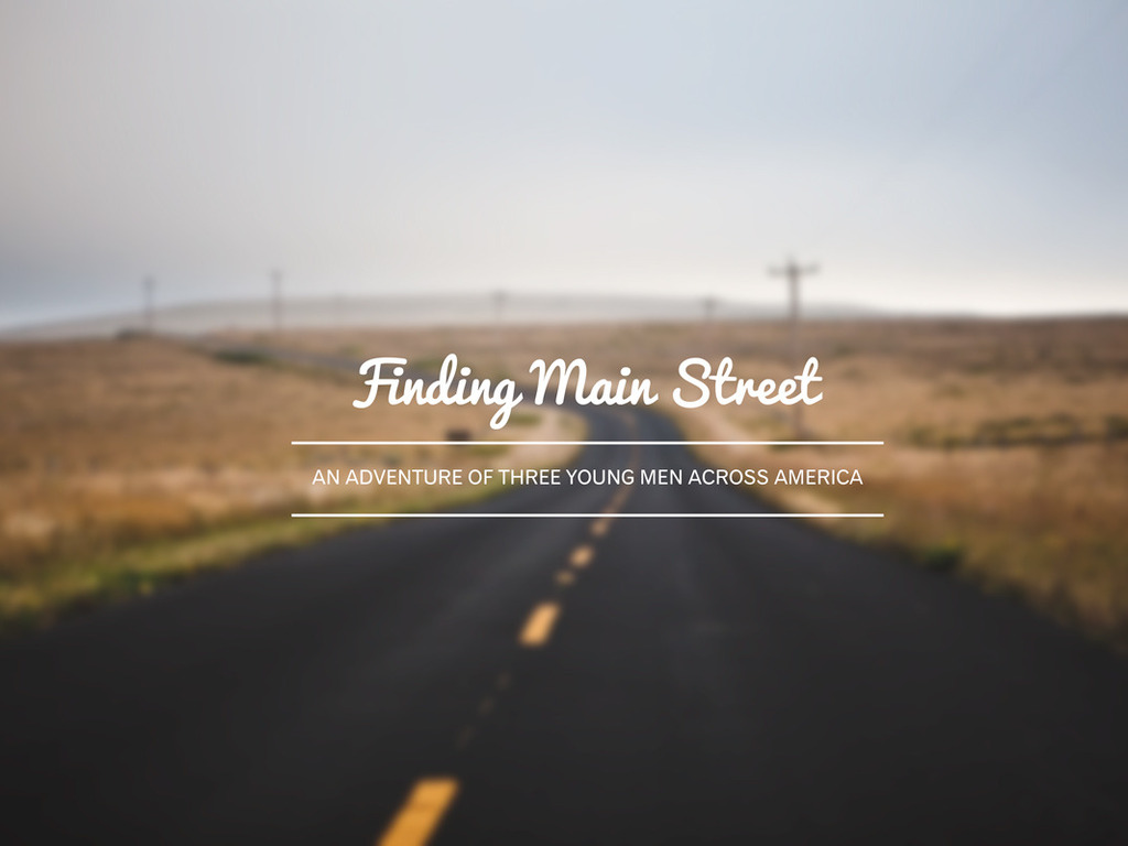 Finding Main Street's video poster