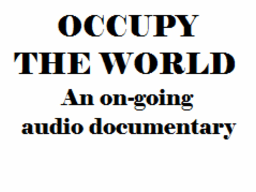 Occupy the World's video poster