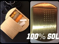 The DogTagPillBox ©® This Model is 100% Brass