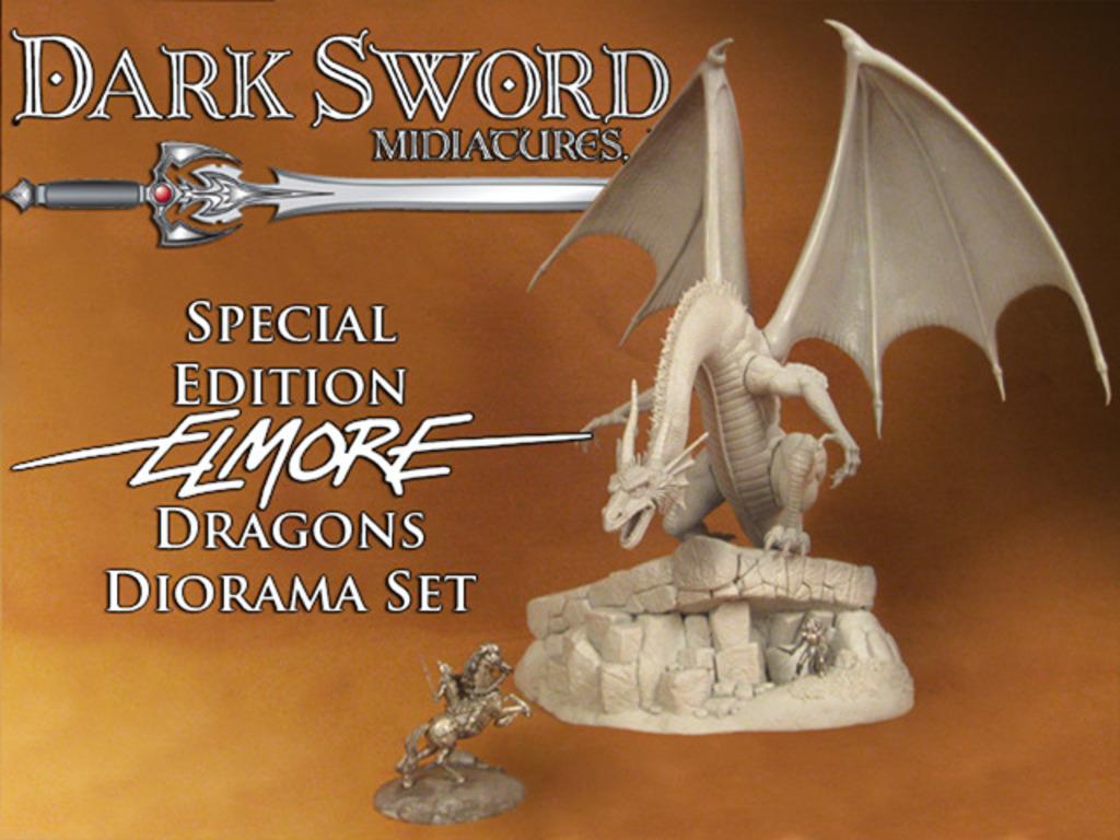 Dark Sword Miniatures Special Edition Elmore Dragons Diorama's video poster