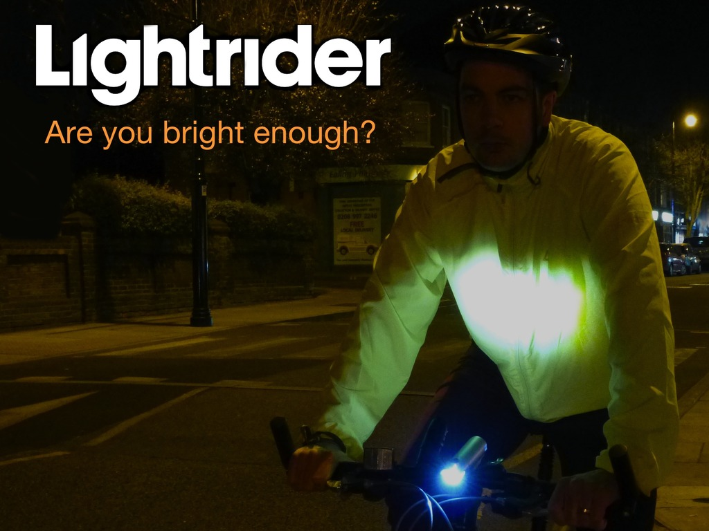 Lightrider Bike Light. Are you bright enough?'s video poster