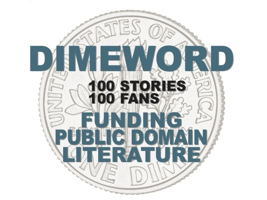 DIMEWORD: Funding Public Domain Literature's video poster