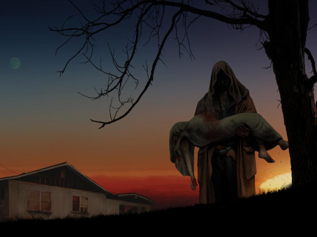 LUNA - a horror short film's video poster