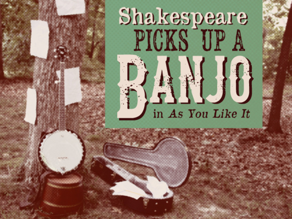 "Shakespeare Picks Up a Banjo in ""As You Like It""'s video poster"