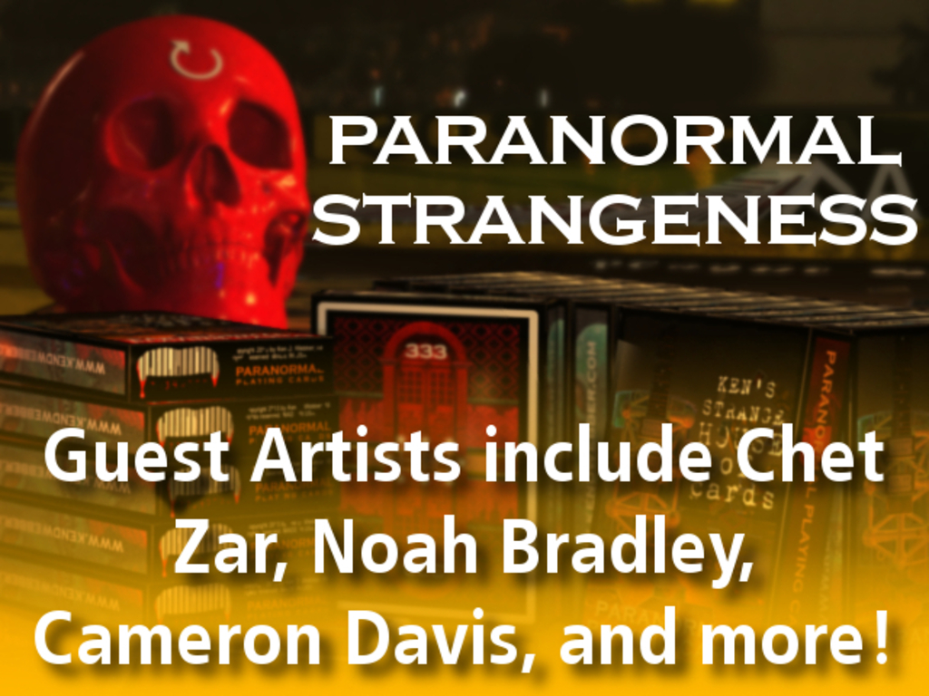 Paranormal Playing Cards + Art + Music + Dropcards + YOU!'s video poster