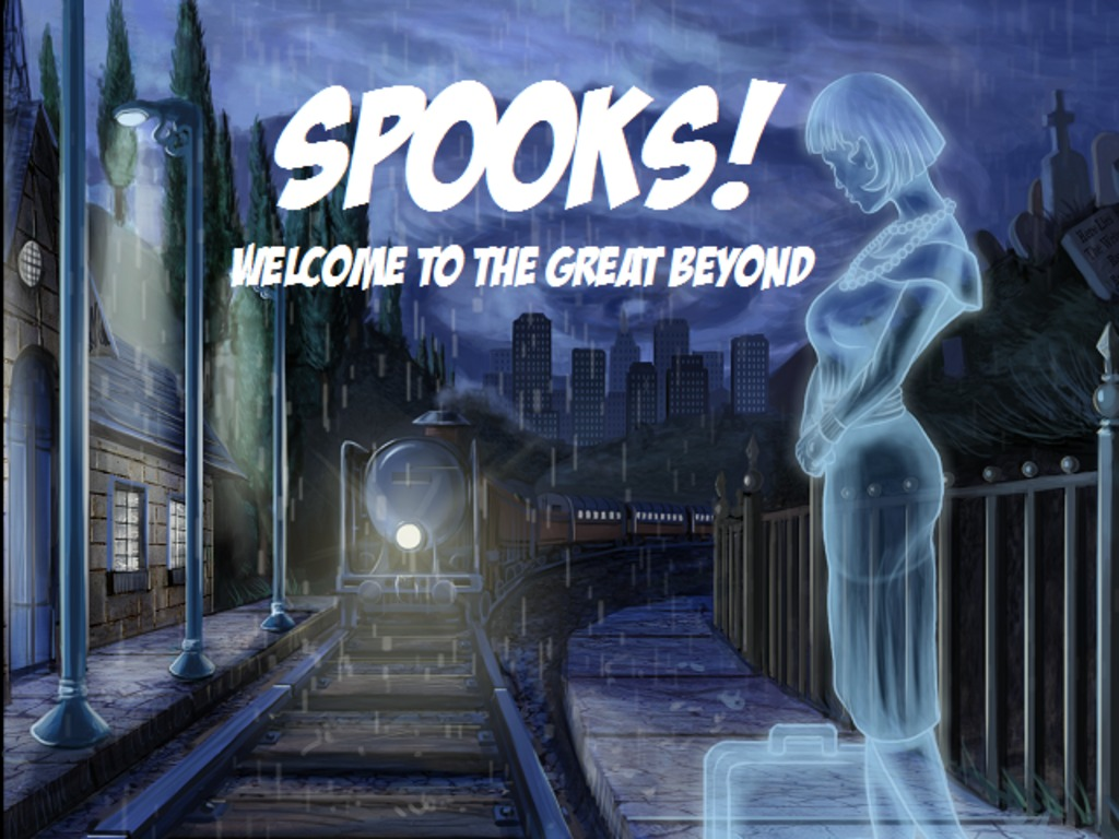"""Spooks! Welcome to the Great Beyond"" Tabletop RPG's video poster"