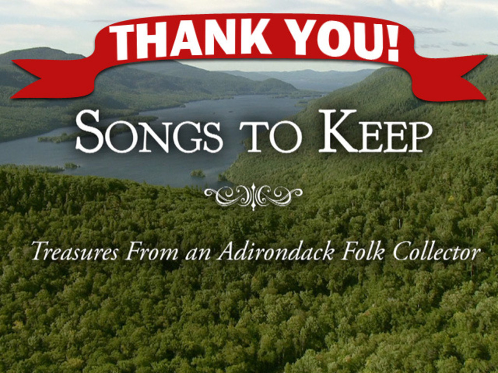 Songs to Keep: Treasures from an Adirondack Folk Collector's video poster
