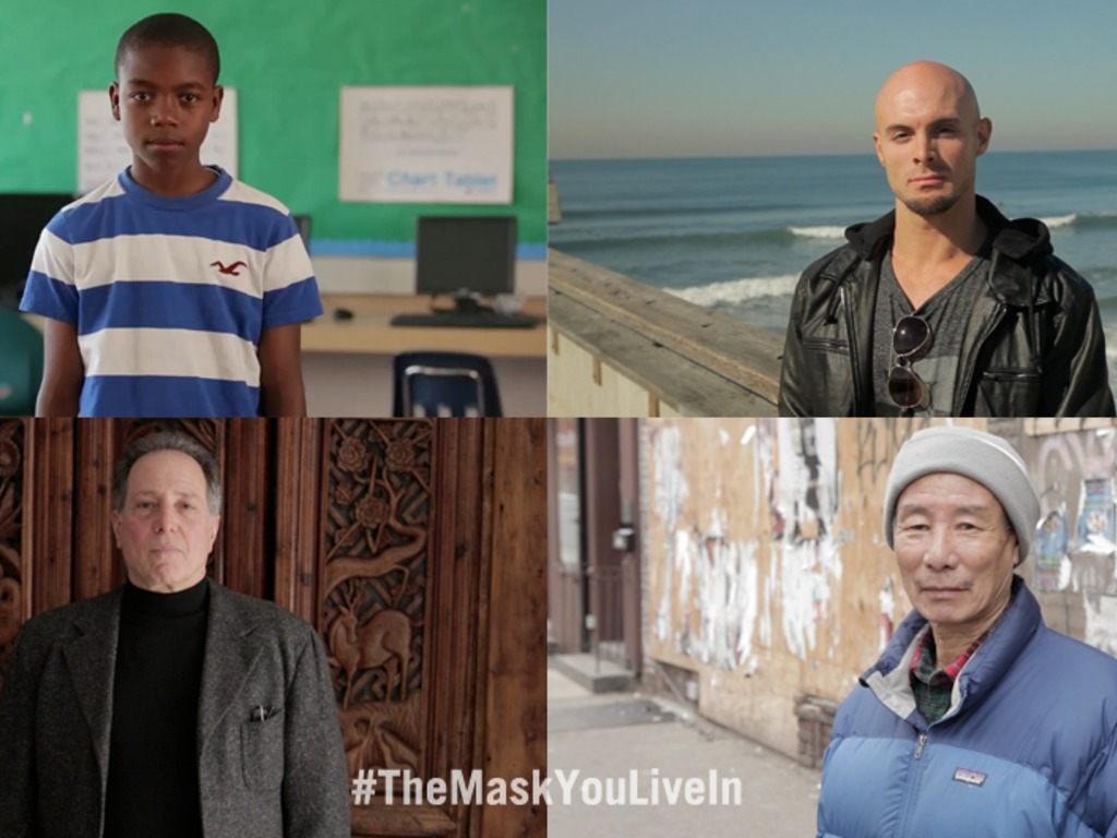 The Mask You Live In's video poster