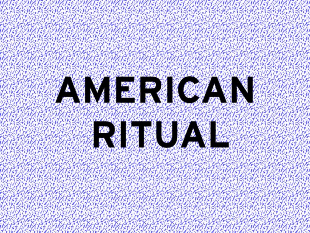 American Ritual's video poster