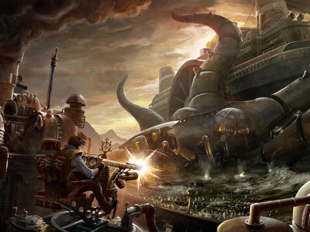 CLOCKWORK UNIVERSE:  Steampunk vs. Aliens Anthology's video poster
