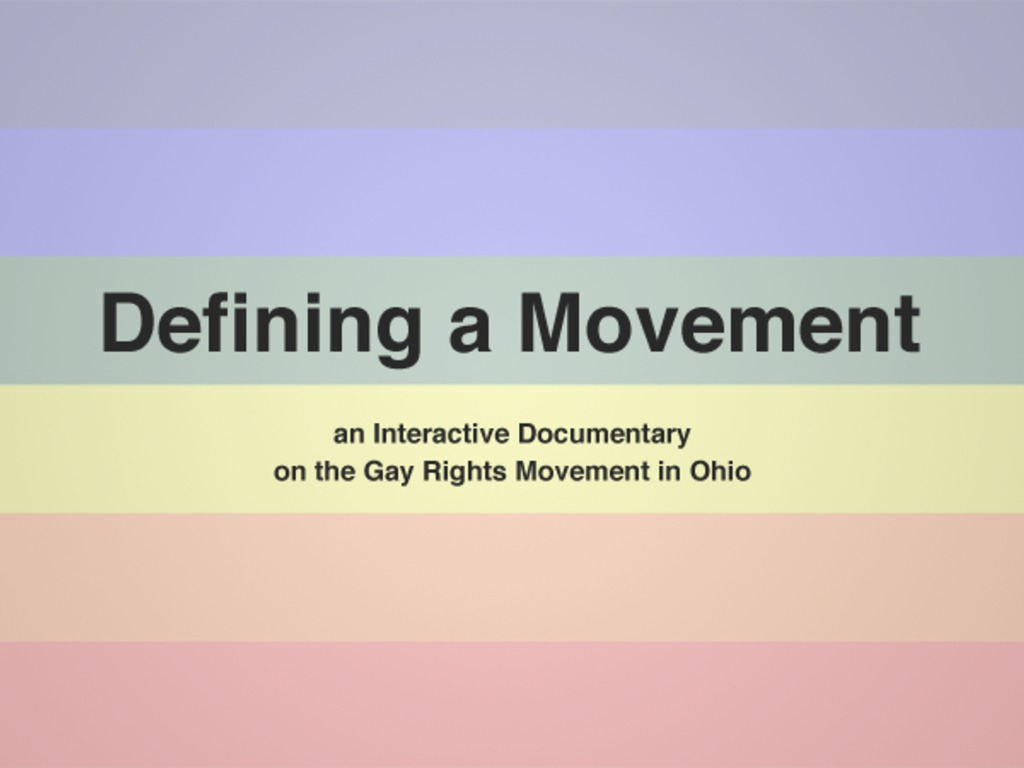 Interactive Documentary on Gay Rights in Ohio's video poster