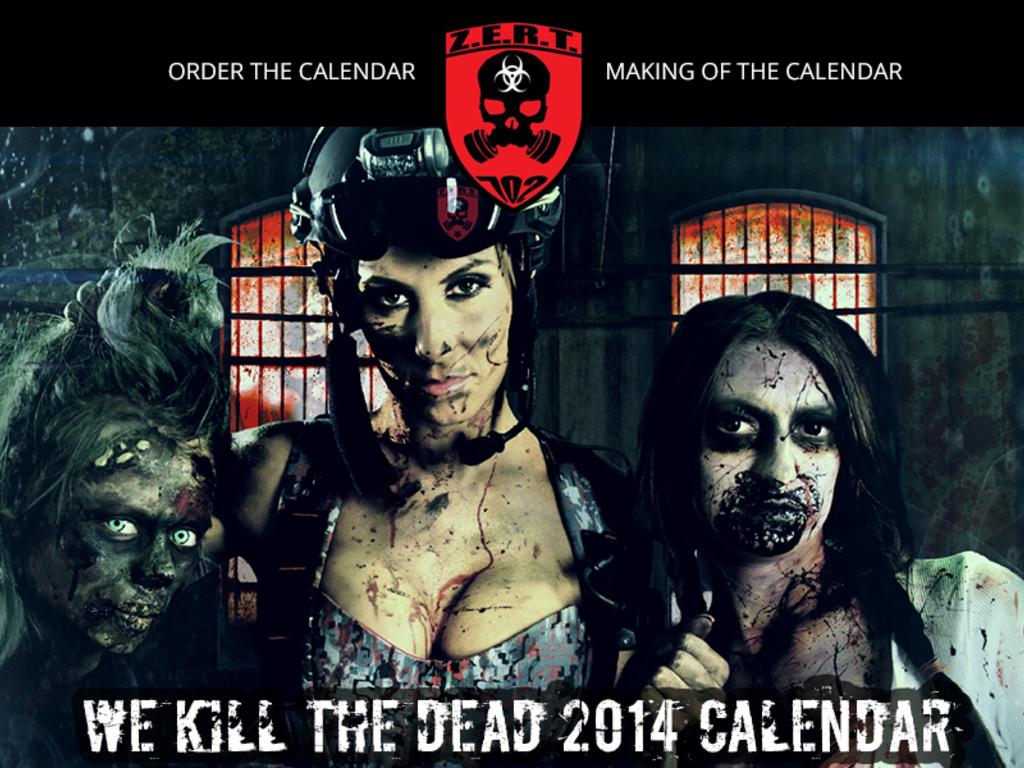 We Kill The Dead! Z-E-R-T Zombie Killing 2014 Calendar's video poster