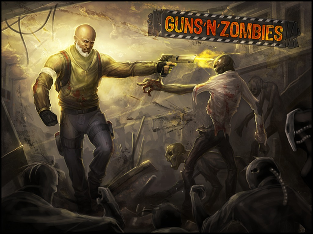 Guns N Zombies apocalyptic video game's video poster