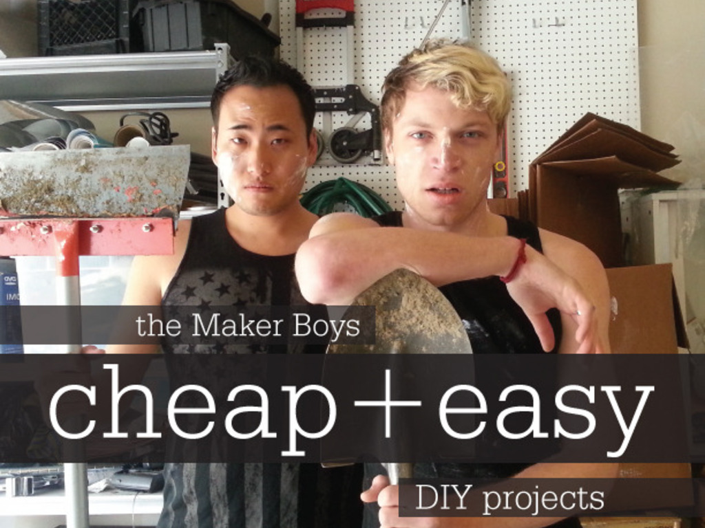 The Maker Boys. Cheap + Easy DIY Guidebook's video poster